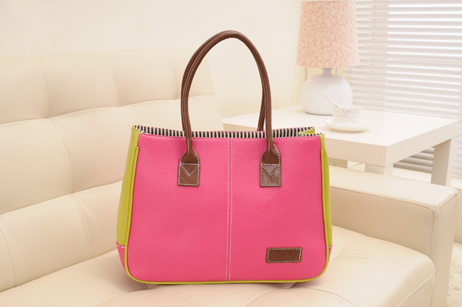 1286 2 Tone Shoulder Bag (rose)