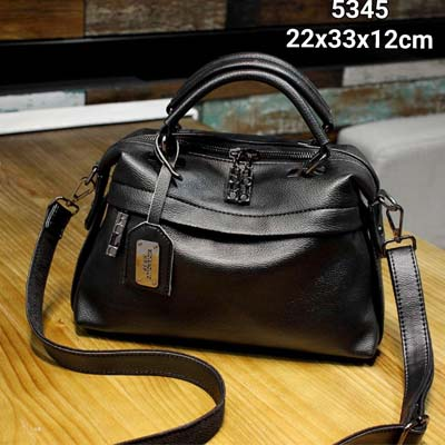5345 Polo Elegant PU Slingbag (Black)