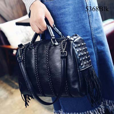 5368 3 Way Handbag Slingbag Shoulderbag (Black)