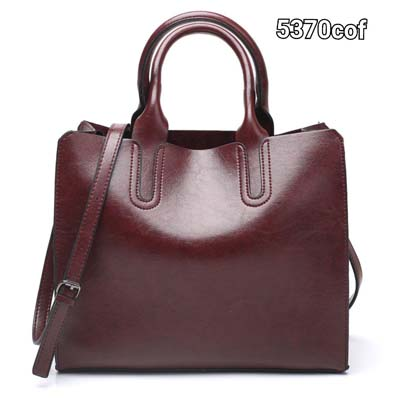 5370 Simple Elegant Pu Leather Handbag (Coffee)