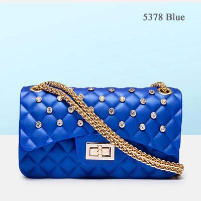 5378 Quality Jelly bag with Diamond (Blue)