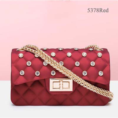 5378 Quality Jelly bag with Diamond (Red)