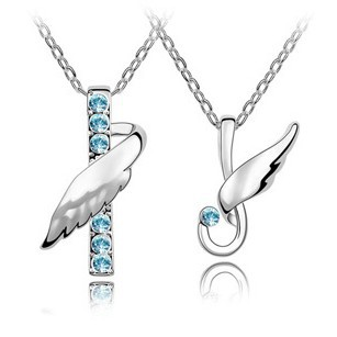 Flying Angels for Couple Necklace