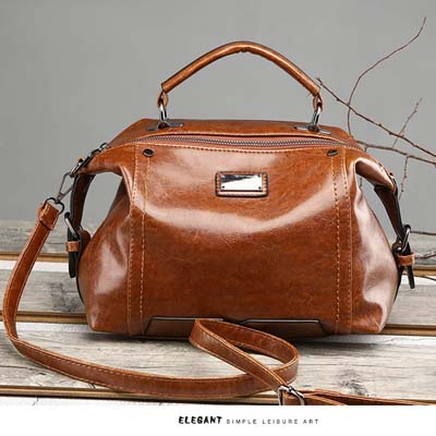 5402 Elegant PU Handbag (Brown)