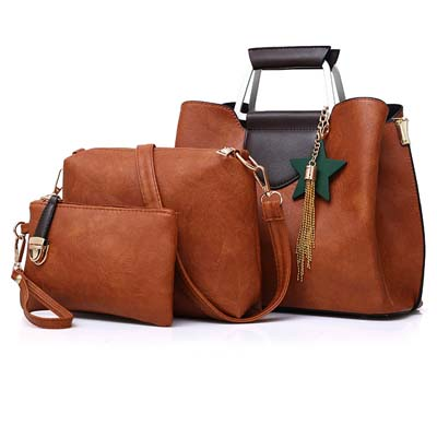 5404 Fashion 3 in 1 Handbag (Brown)