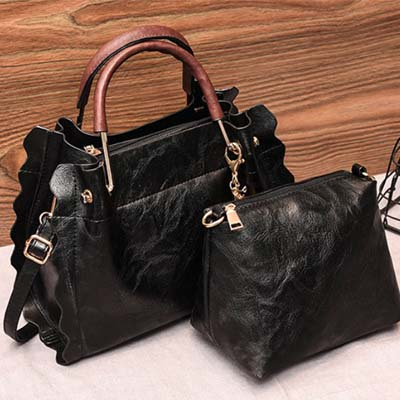 5409 Fashion 2 in 1 Bag (Black)