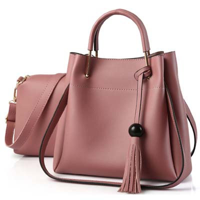 5411 Fashion 2 in 1 Bag (Dark Pink)