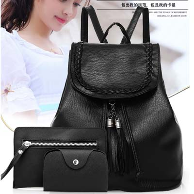 5426 Fashion 3 in 1 Backpack (Black)