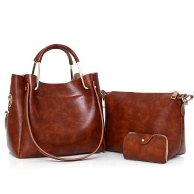 5427 Hotdemand Fashion 3 in 1 Handbag (Brown)