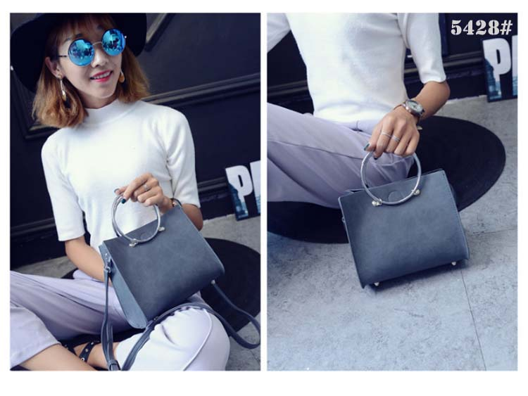 5428 Simple 2 in 1 Handbag (Grey)