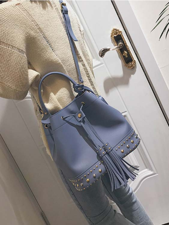 5462 Fashion Bucket 2 in 1 Slingbag (Blue)