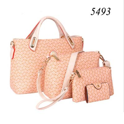 5493 3 in 1 handbag set (Pink)
