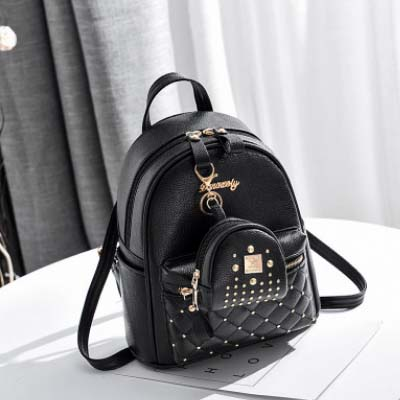 5499 Elegant 2 in 1 Lingge Backpack (Black)