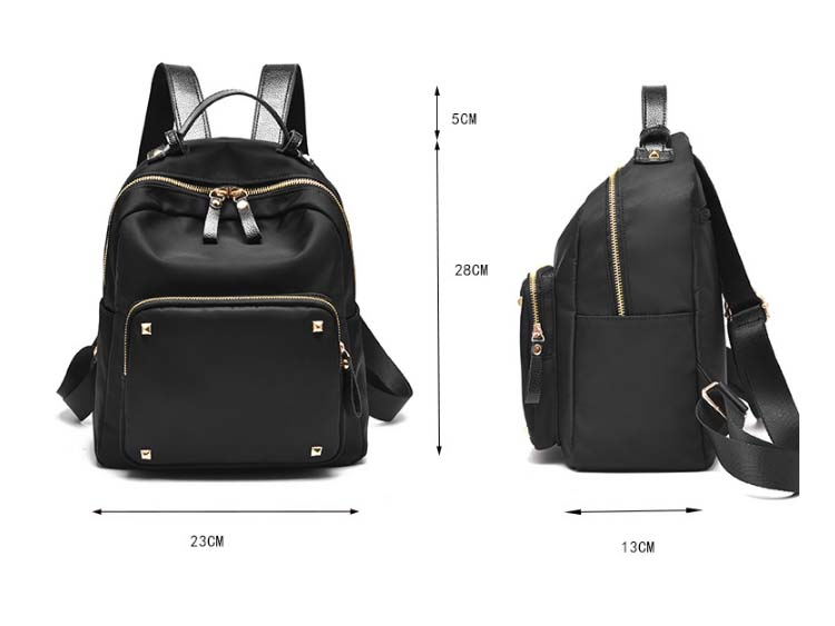 5504 Fashion Canvas Backpack (Black)