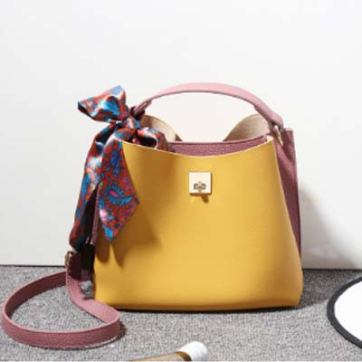 5507 Fashion Slingbag with Scarf (Yellow)