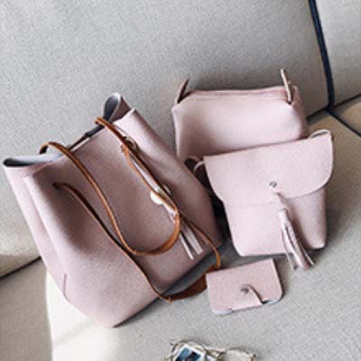 5508 Fashion 4 in 1 Handbag (Pink)