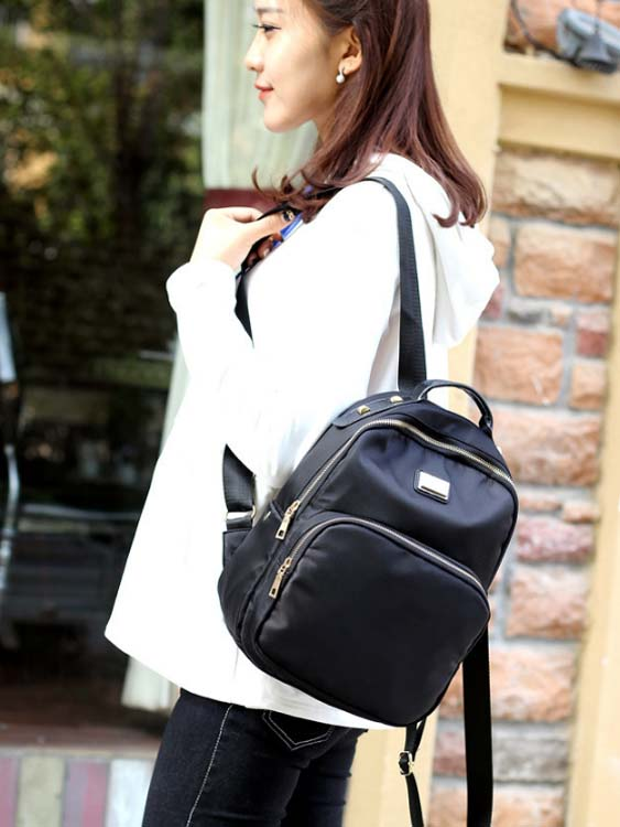 5579 Fashion 3 in 1 Canvas Backpack (Black)