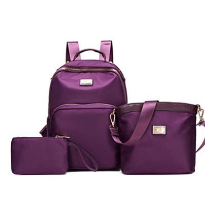 5579 Fashion 3 in 1 Canvas Backpack (Purple)