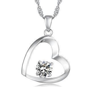 Love Crystal Pendant Necklace