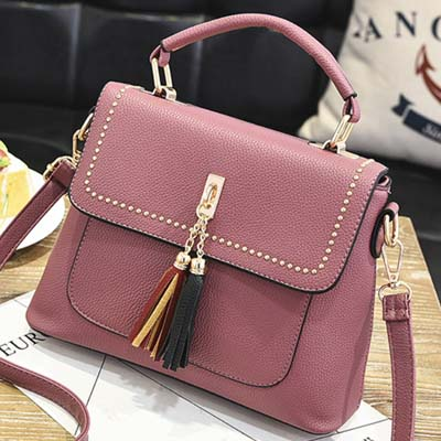 5882 Fashion Handbag (Dark Pink)