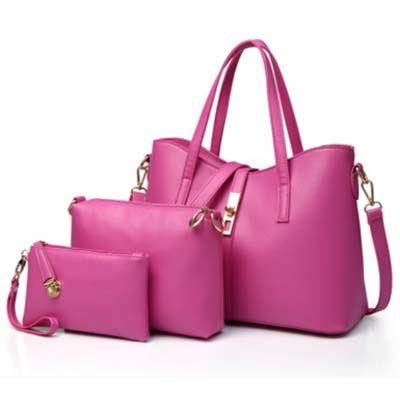 5935 Elegant 3 in 1 Handbag (Rose)