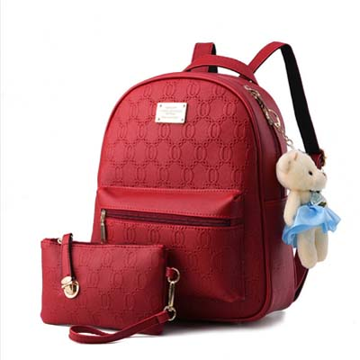 5942 Elegant 2 in 1 Backpack (Rose)
