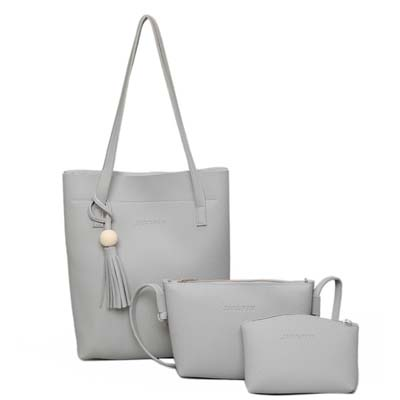 5977 Fashion 3 in 1 handbag (Grey)