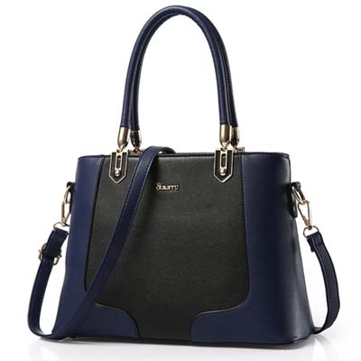 5993 Fashion Two Tone Handbag (Blue)
