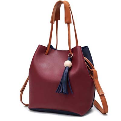 6023 Two Tone Shoulder Bag (Red)