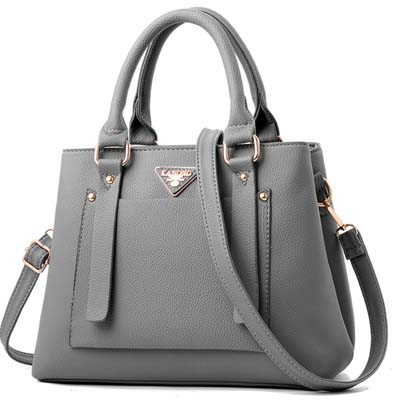 6033 Fashion Double Layer Handbag (Grey)