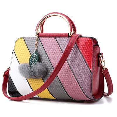 6035 Fashion Handbag (Maroon)