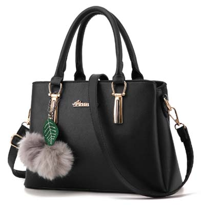 6038 Elegant Multi Layer Handbag (Black)