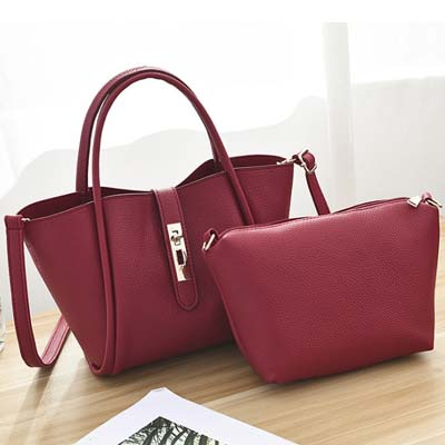 6078 Elegant 2 in 1 Bag (Maroon)