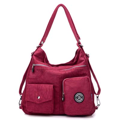 6086 Fashion Waterproof Canvas Bag (Red)