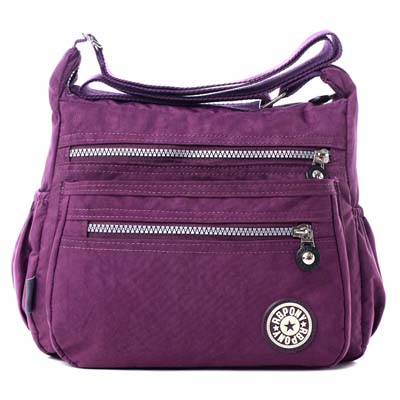 6088 Fashion Waterproof Canvas Bag (Purple)