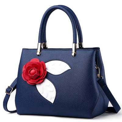 6101 Fashion Rose Handbag (Blue)