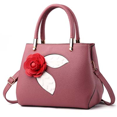6101 Fashion Rose Handbag (Dark Pink)