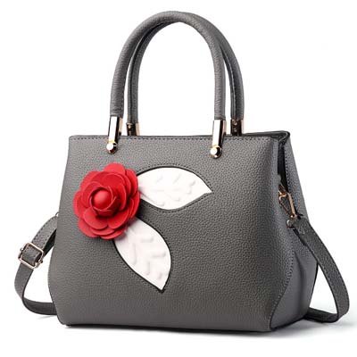 6101 Fashion Rose Handbag (Grey)