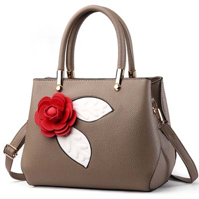 6101 Fashion Rose Handbag (Khaki)