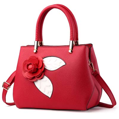 6101 Fashion Rose Handbag (Maroon)