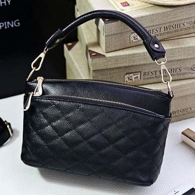 6102 Fashion Lingge Handbag (Black)