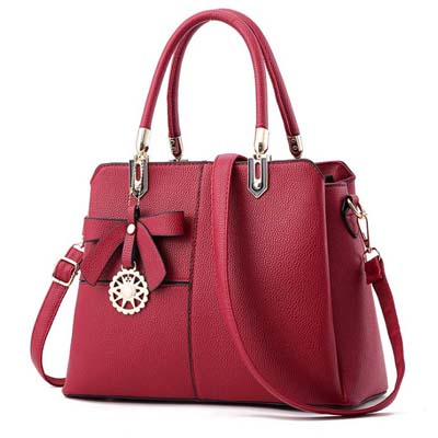 6110 Fashion Multi Layer Handbag (Maroon)