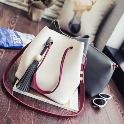 6132 Two Tone 2 in 1 Bag (White)