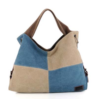 6136 Fashion Canvas Handbag (Blue)