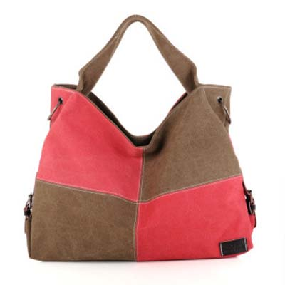 6136 Fashion Canvas Handbag (Red)