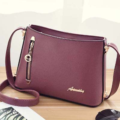 6142 Elegant Sling Bag (Dark Pink)