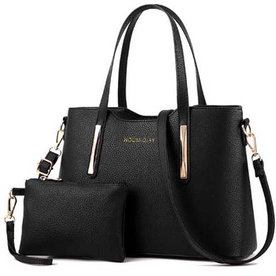 6148 Elegant 2 in 1 handbag (Black)