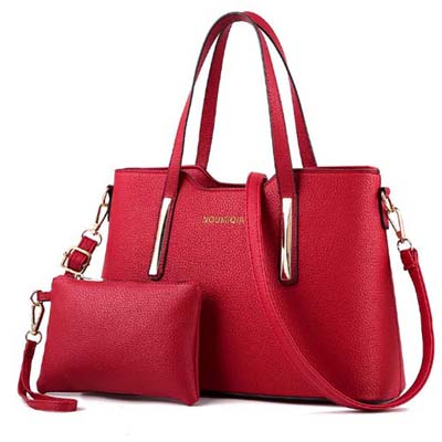 6148 Elegant 2 in 1 handbag (Maroon)