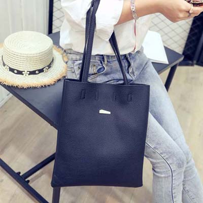6162 Simple Tote Bag (Black)