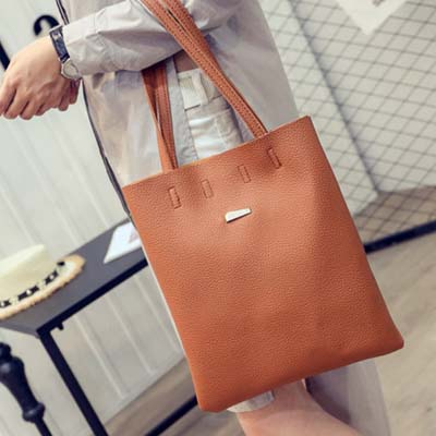 6162 Simple Tote Bag (Brown)